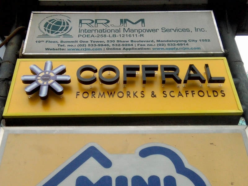 coffral | acrylic signage philippines