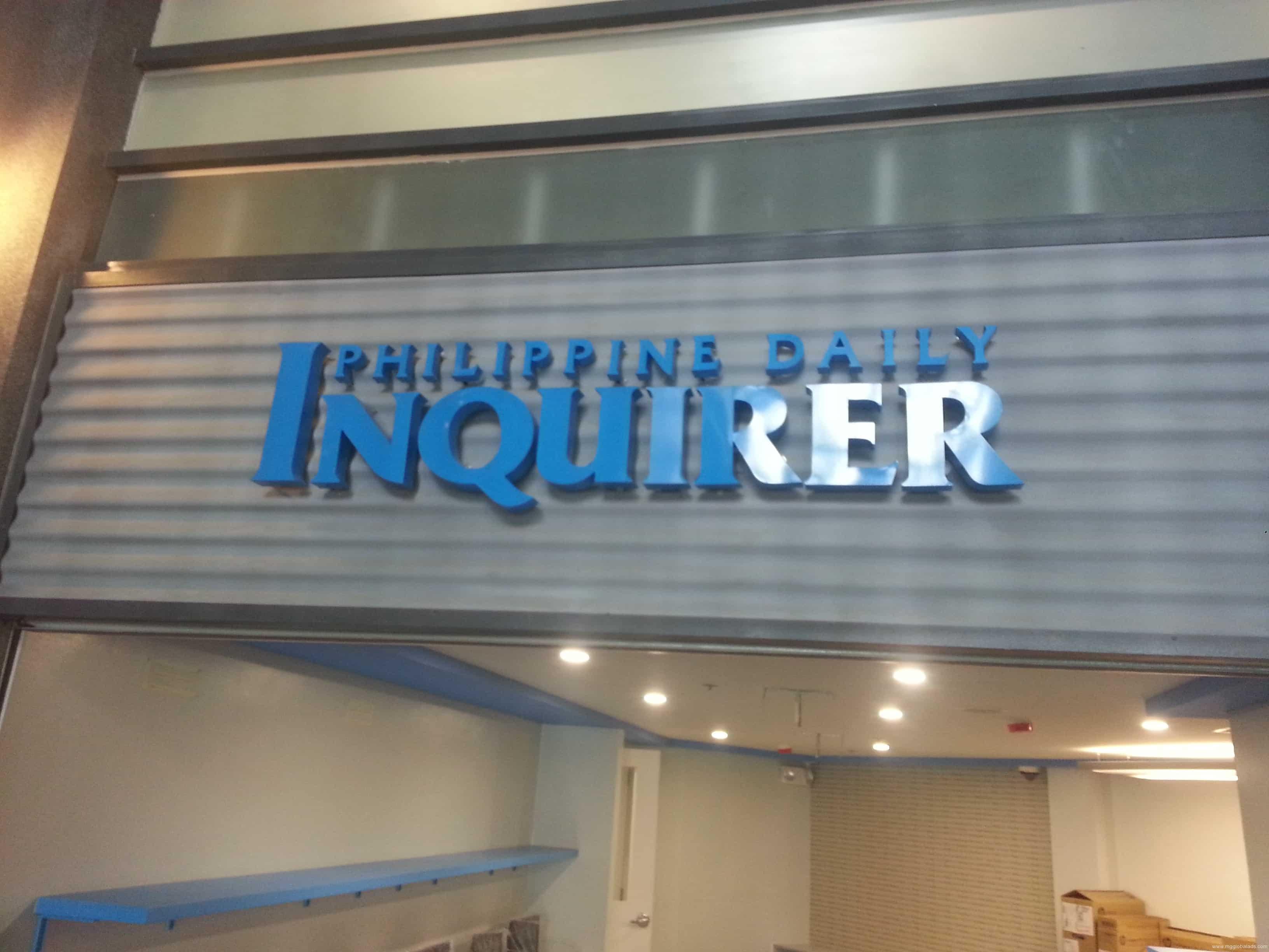 signage  acrylic signage  Inquirer