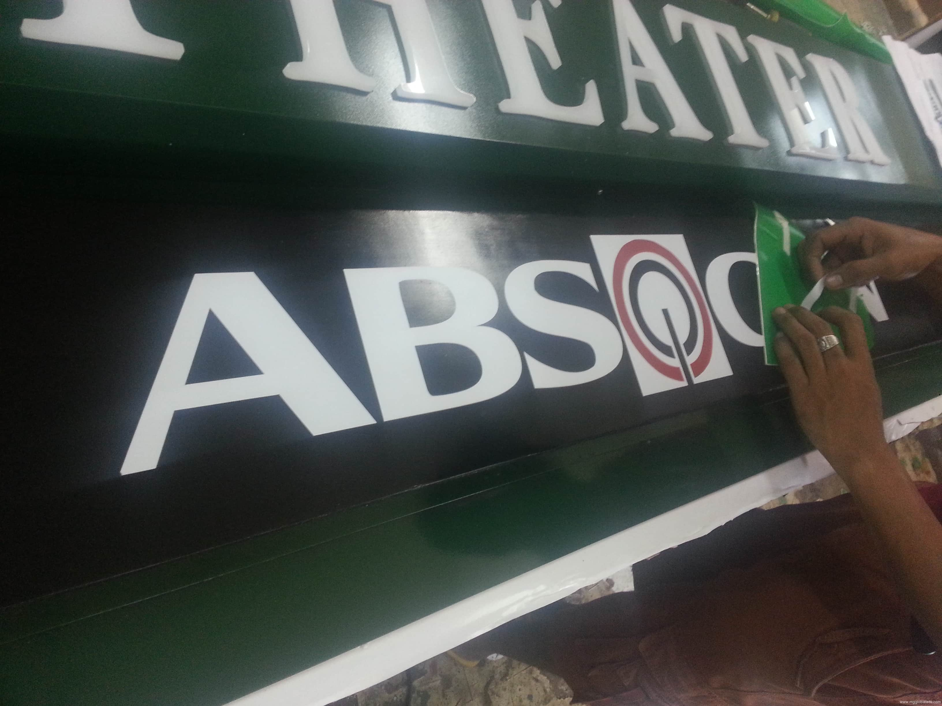 TV signage |signage |ABS-CBN