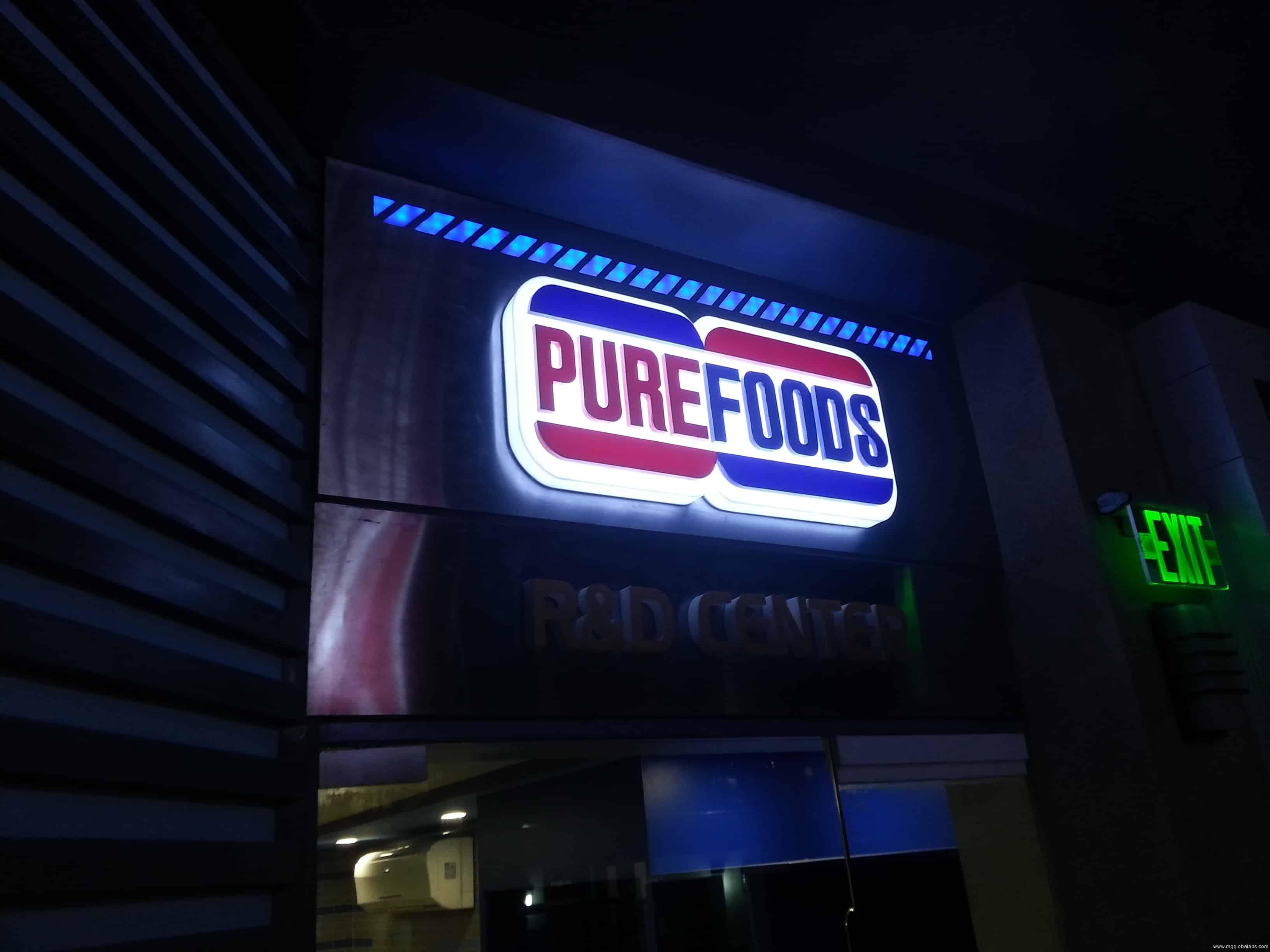 store signage  Purefoods  acrylic signage