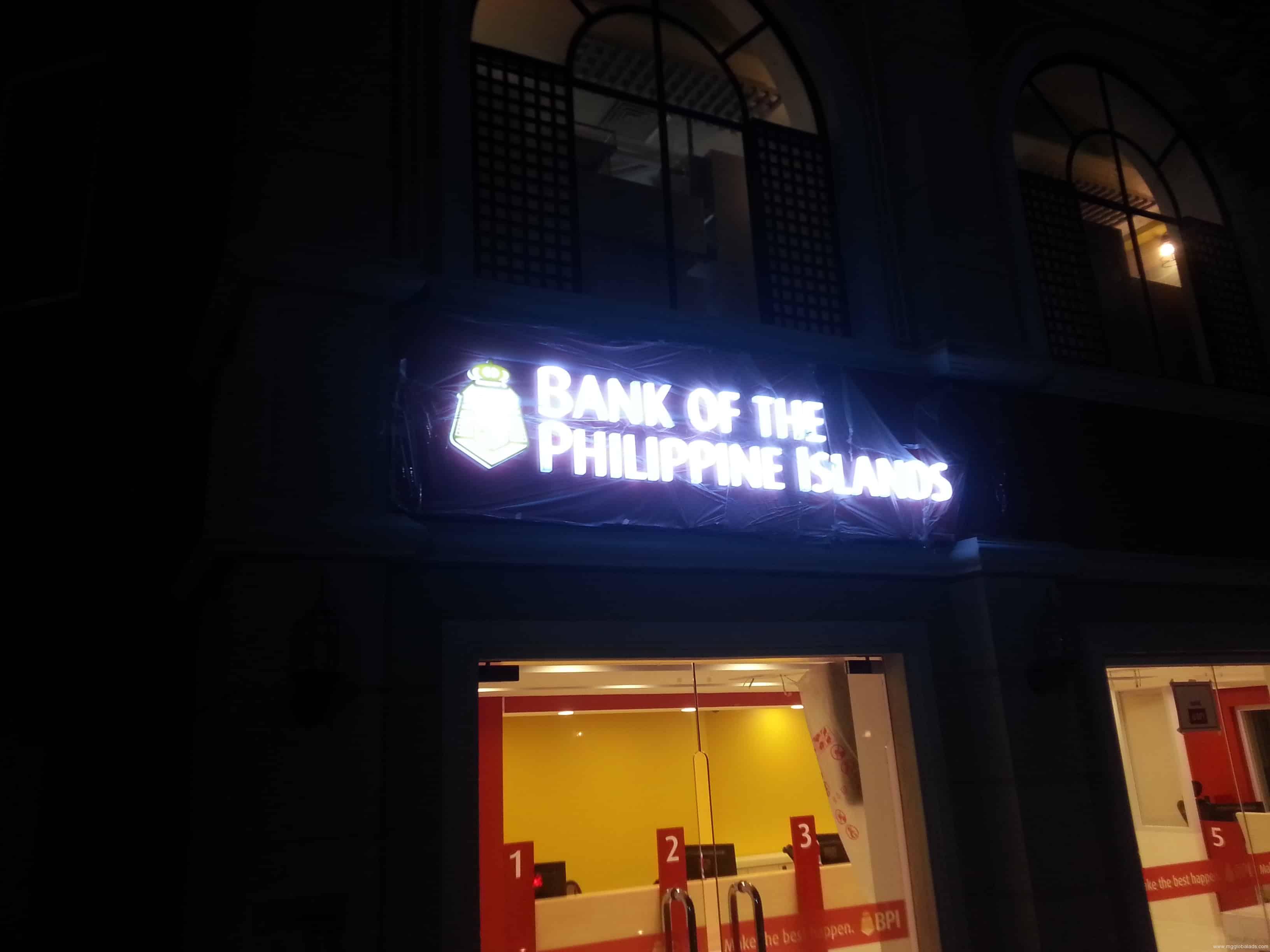 bank signage   signage company   BPI