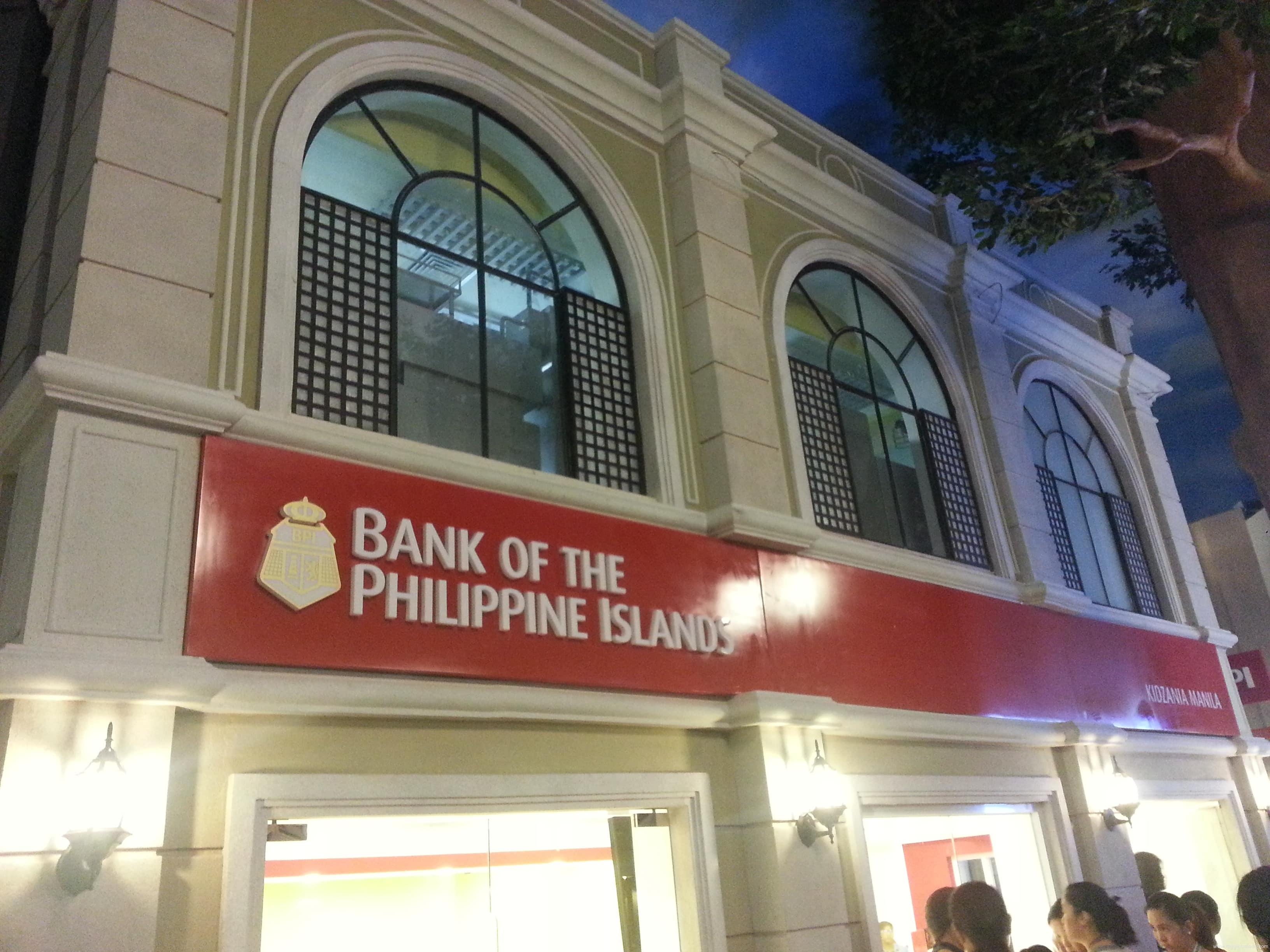 bank signage   signage  BPI  acrylic signage