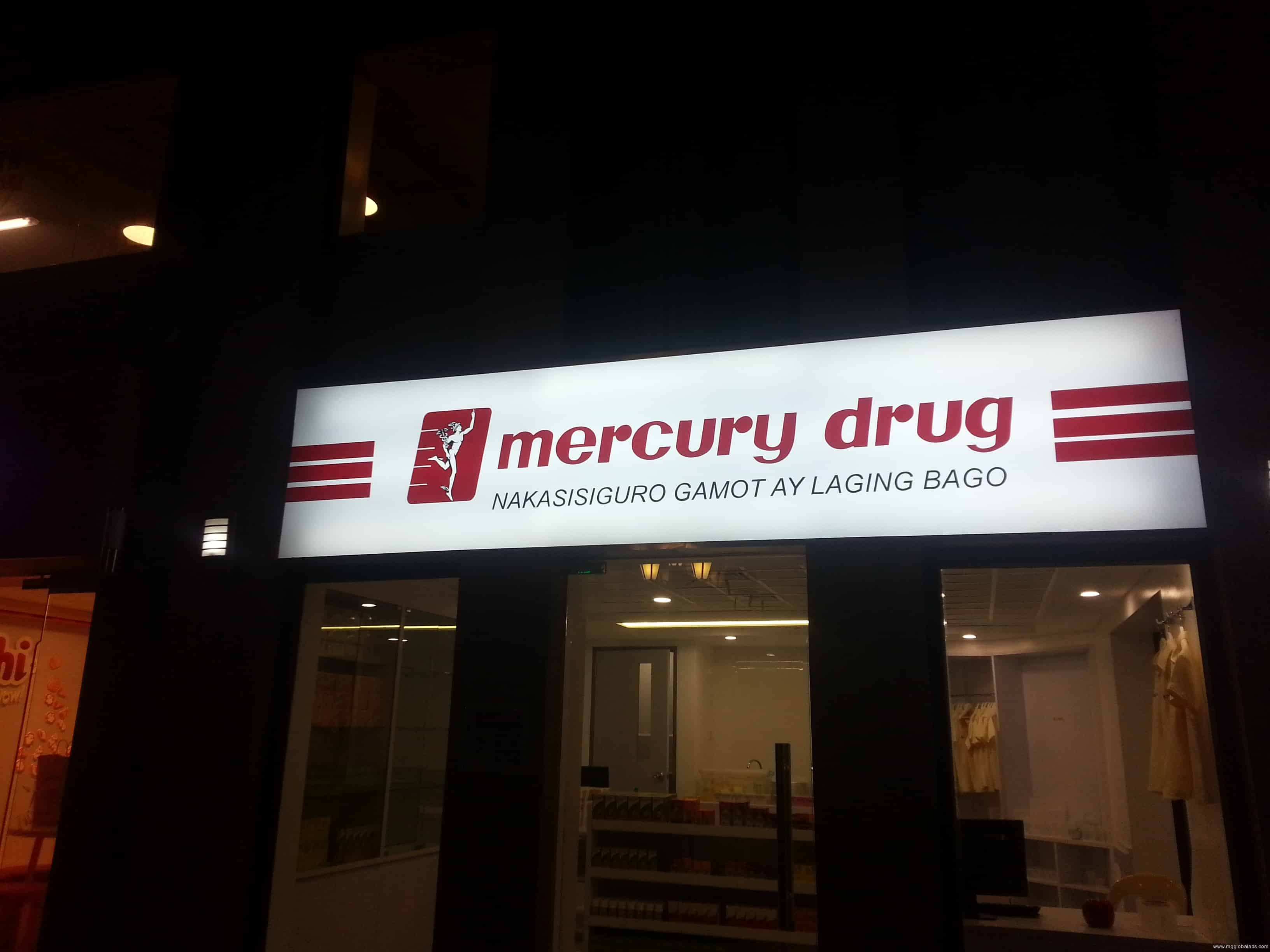 store signage | led signage | Mercury Drug