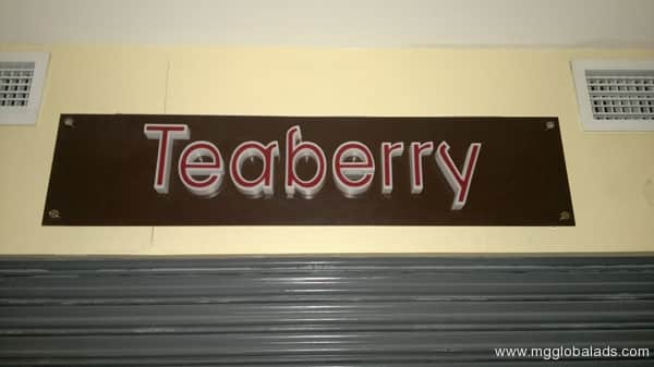 Sign Maker | Tea Berry |Signage| acrylic signage