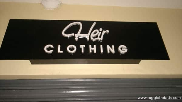 Sign Maker | her Clothing| acrylic signage