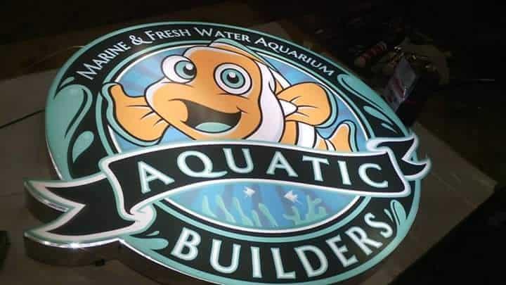 acrylic signage for aquatic builders  acrylic signage store signage