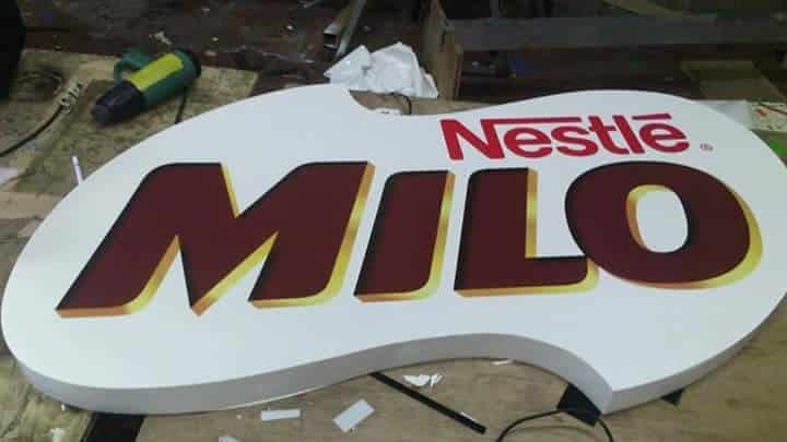 acrylic signage for milo  acrylic signage restaurant signage