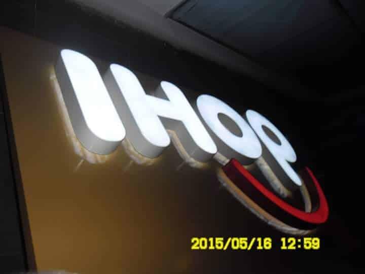 acrylic signage for IHOP BHS  acrylic signage restaurant signage