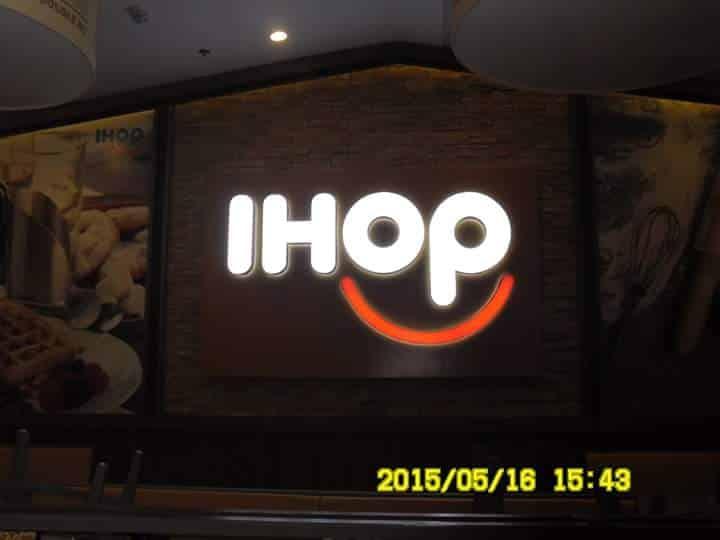 acrylic signage for IHOP  acrylic signage restaurant signage