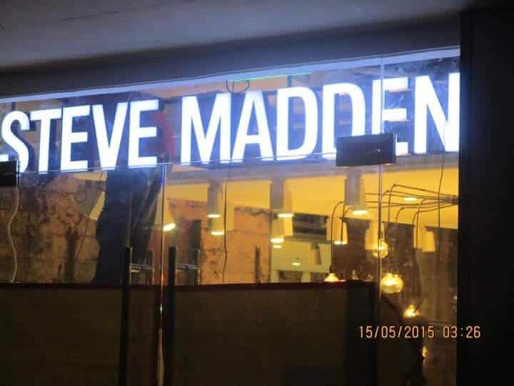 acrylic signage for steve madden  acrylic signage store signage