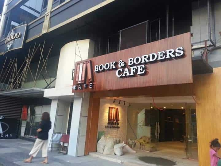 wood signage effect for book and bean| acrylic signage|restaurant signage
