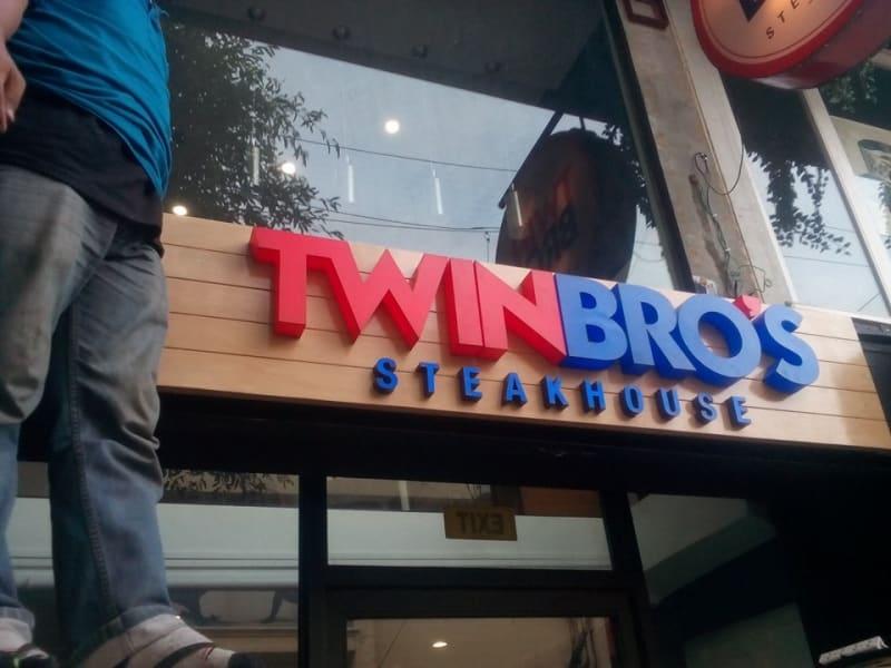 Twin Bros  acrylic signage