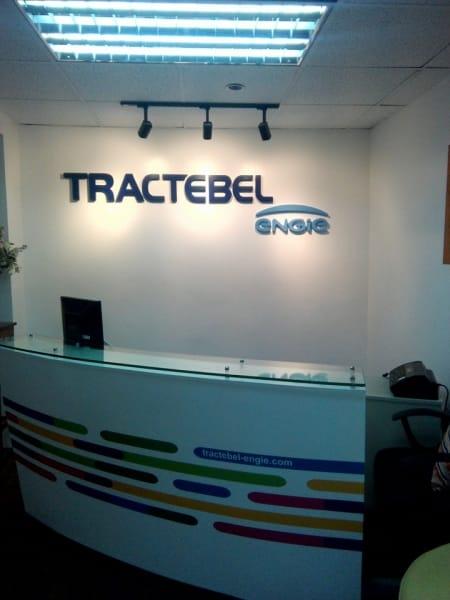 acrylic lobby signage