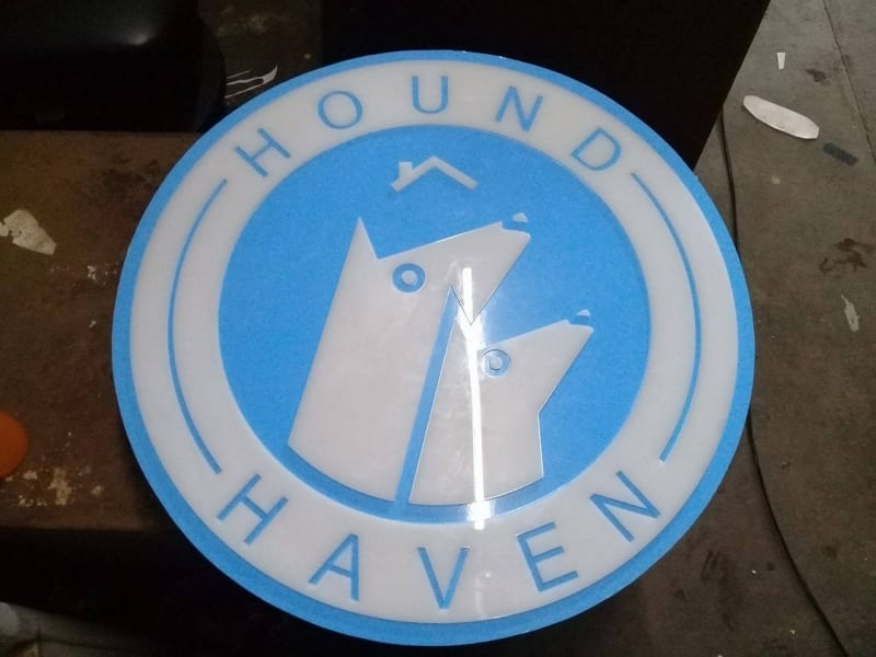 acrylic signage| hound haven