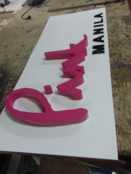 acrylic signage  pink manila 2