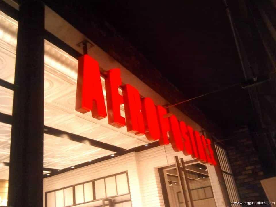 aeropostale_-sign  acrylic signage