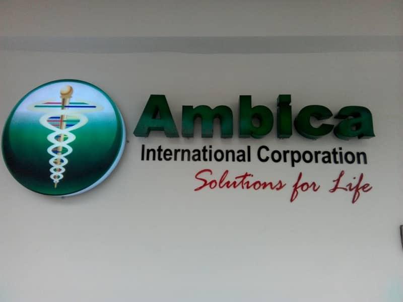 ambica   acrylic signage