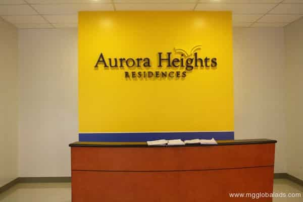 Sign Maker | Aurora Heights| acrylic signage