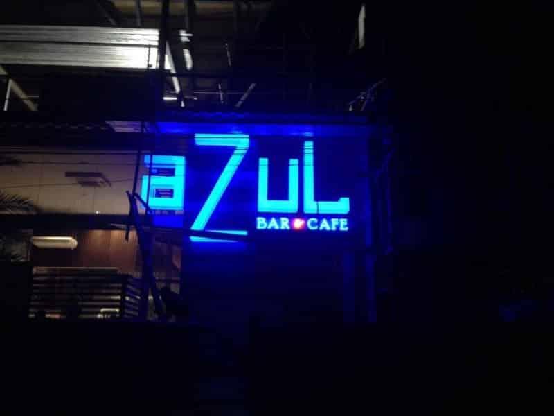 azul   acrylic signage
