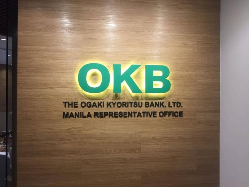 bank acrylic signs |okb