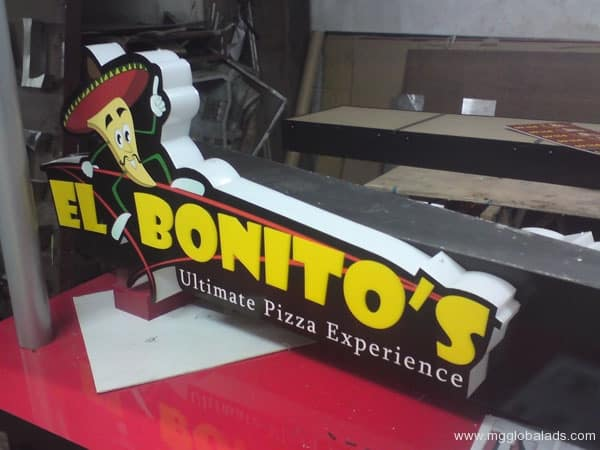 Sign Maker | Signage | EL BONITOS| acrylic signage