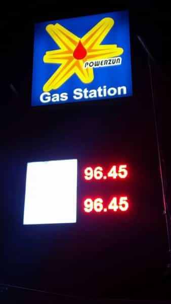 gas station| acrylic signs