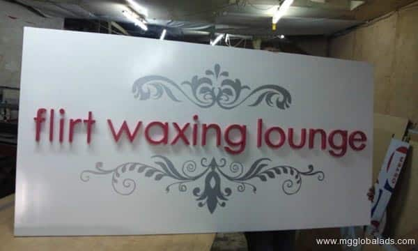 Sign Maker | Signage |Waxing Lounge