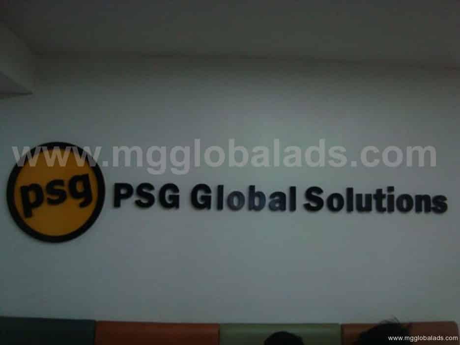 Sign Maker   Signage  psg  acrylic signage