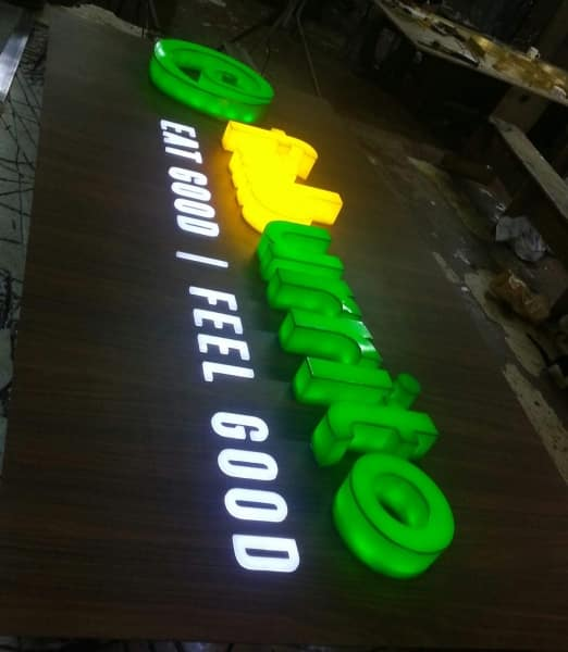 acrylic sign for faburitto| acrylic signage|restaurant signage