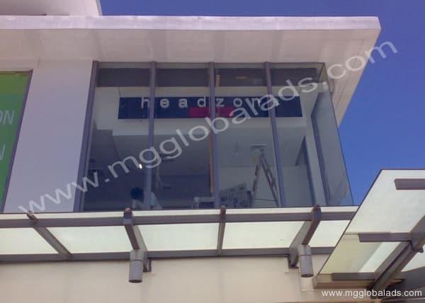 s55  acrylic signage