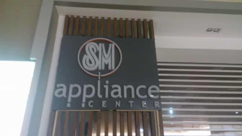 sm appliance  acrylic signage