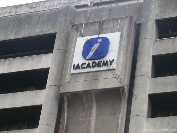 iacademy school signage|acrylic sign |signage maker