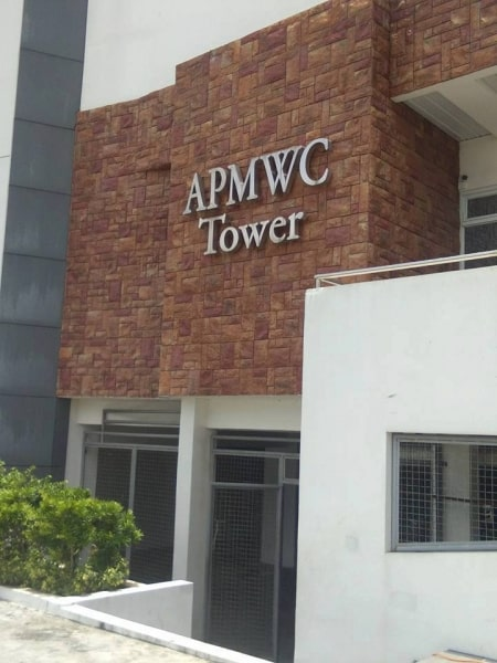 apmc stainless building sign