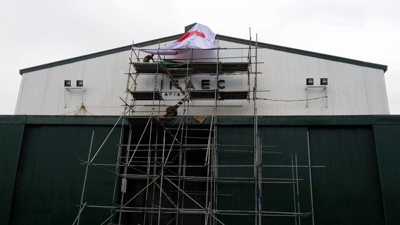 inaec 2 |building signage