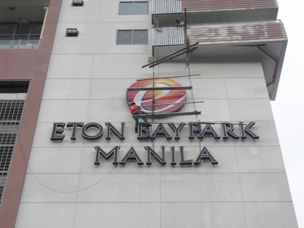 eton baypark building signage 4 |stainless signage |signage maker