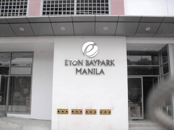 eton baypark building signage |stainless signage |signage maker