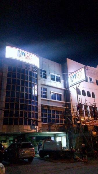 eastwest building signs pylon signage
