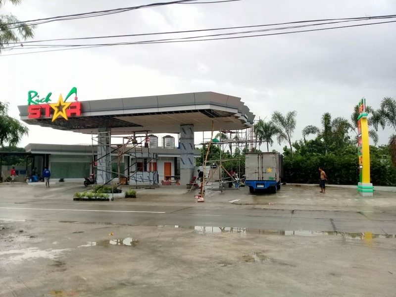 gas station signage