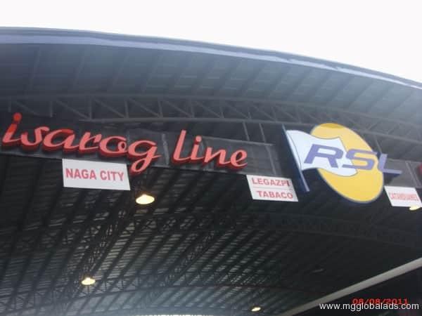 Isaraog Bus Station Signage|acrylic sign |signage maker