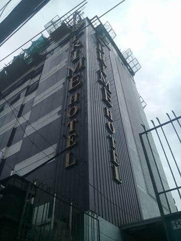 hotel building signage