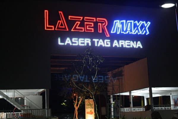 lazer maxx centris building signage |acrylic signage |signage maker