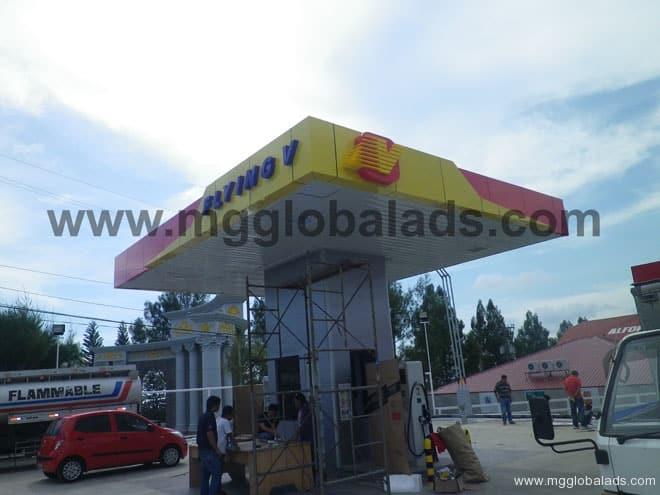 Flying V Gas Station Signage 2|acrylic sign |signage maker