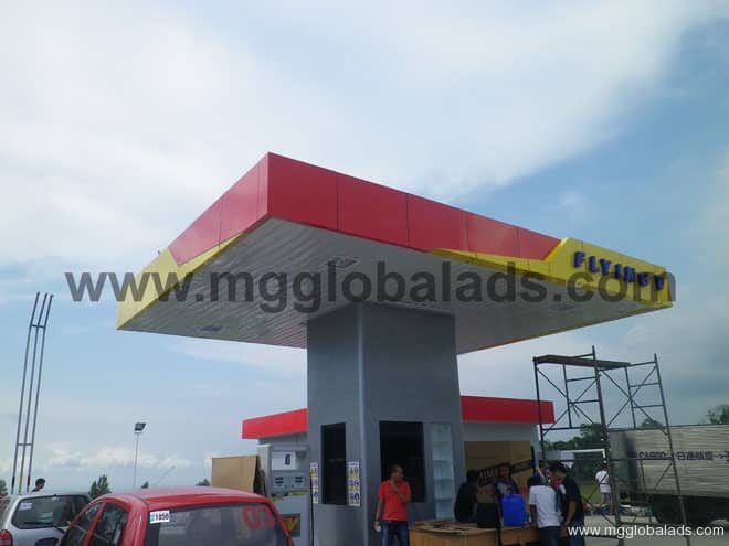 Flying V Gas Station Signage|acrylic sign |signage maker