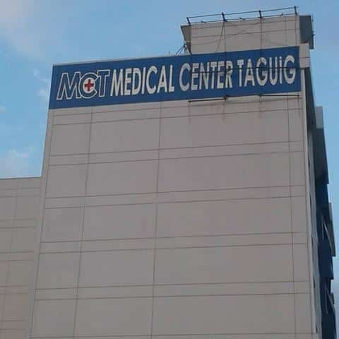 medical center taguig painted building sign