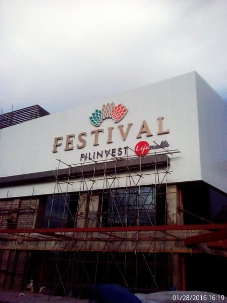 festival mall building signage 1|stainless sign |signage maker