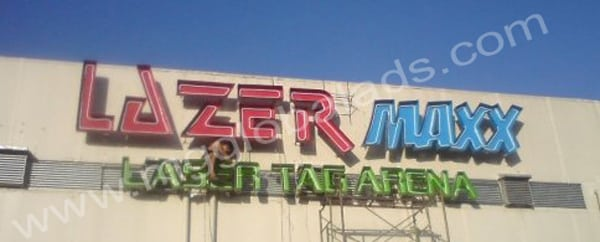 lazer max building sign |acrylic signage |signage maker