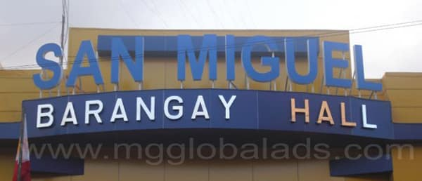 barangay hall |stainless signage |signage maker