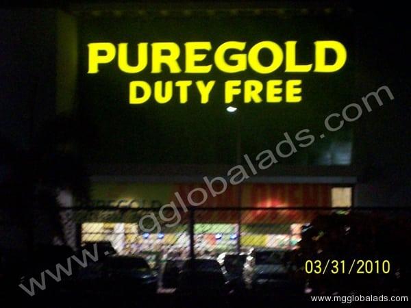 Puregold Dutyfree Building Signage|acrylic sign |signage maker