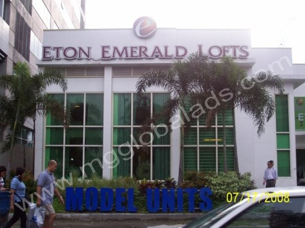 eton emerald loft building sign |acrylic signage |signage maker