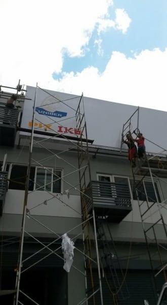 united bearing| building signage